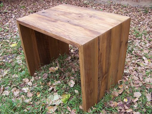 Custom Made Modern Slab Desk From Reclaimed Wood