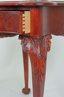 Custom Made Carved Cherry End Tables