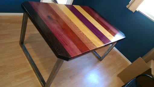 Custom Made Exotic Wood Dining Table