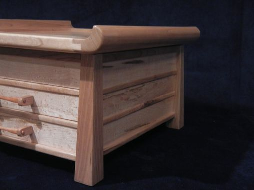 Custom Made Custom Cherry And Bird's Eye Maple Jewelry Box
