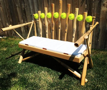 Custom Made Softball Bat Bench