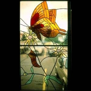"Custom Made ""Thanksgiving For New Life""  Butterfly Window"