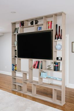Hand Crafted Lexington Room Divider Bookshelf Tv Stand