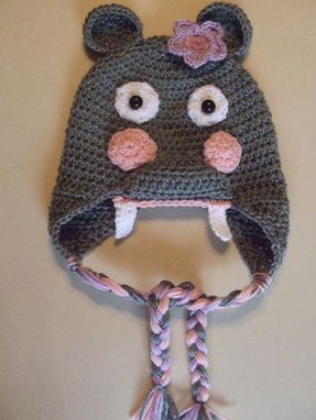 Custom Made Hippo Earflap Hat