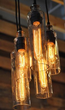 Custom Made Voss Bottle Chandelier