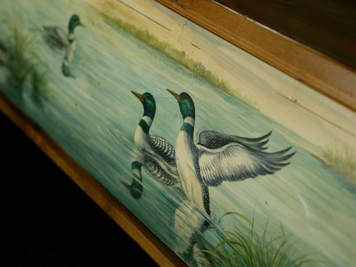 Custom Made European 8ft Bench With Pond Scene