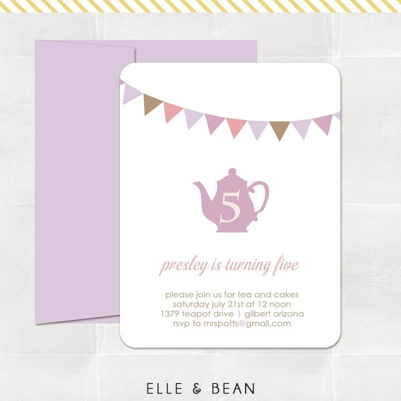 Custom High Tea Party Invitations By Elle Bean Custommade Com