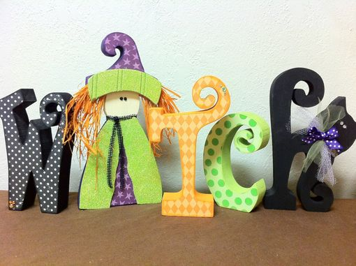 Custom Made Halloween--Witch Letter Set