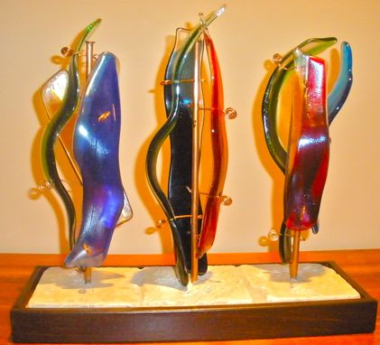 Custom Made Fused Glass Sculpture - Basta! Series