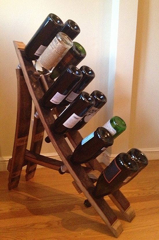 Hand Crafted French Oak Wine Barrel Wine Rack Reclaimed