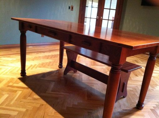 Custom Made Cherry Desk And Bench