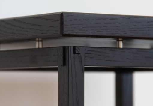 Custom Made Ebonized End Tables