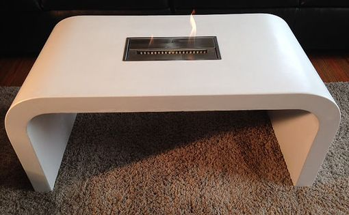 Custom Made Concrete Bioethanol Fire Table