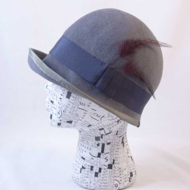 Custom Made Cloche Grey Blue : Anna