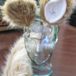 Cosplay Alaskan Husky white black tips luxury shag fur ears /& tails in 2 sizes