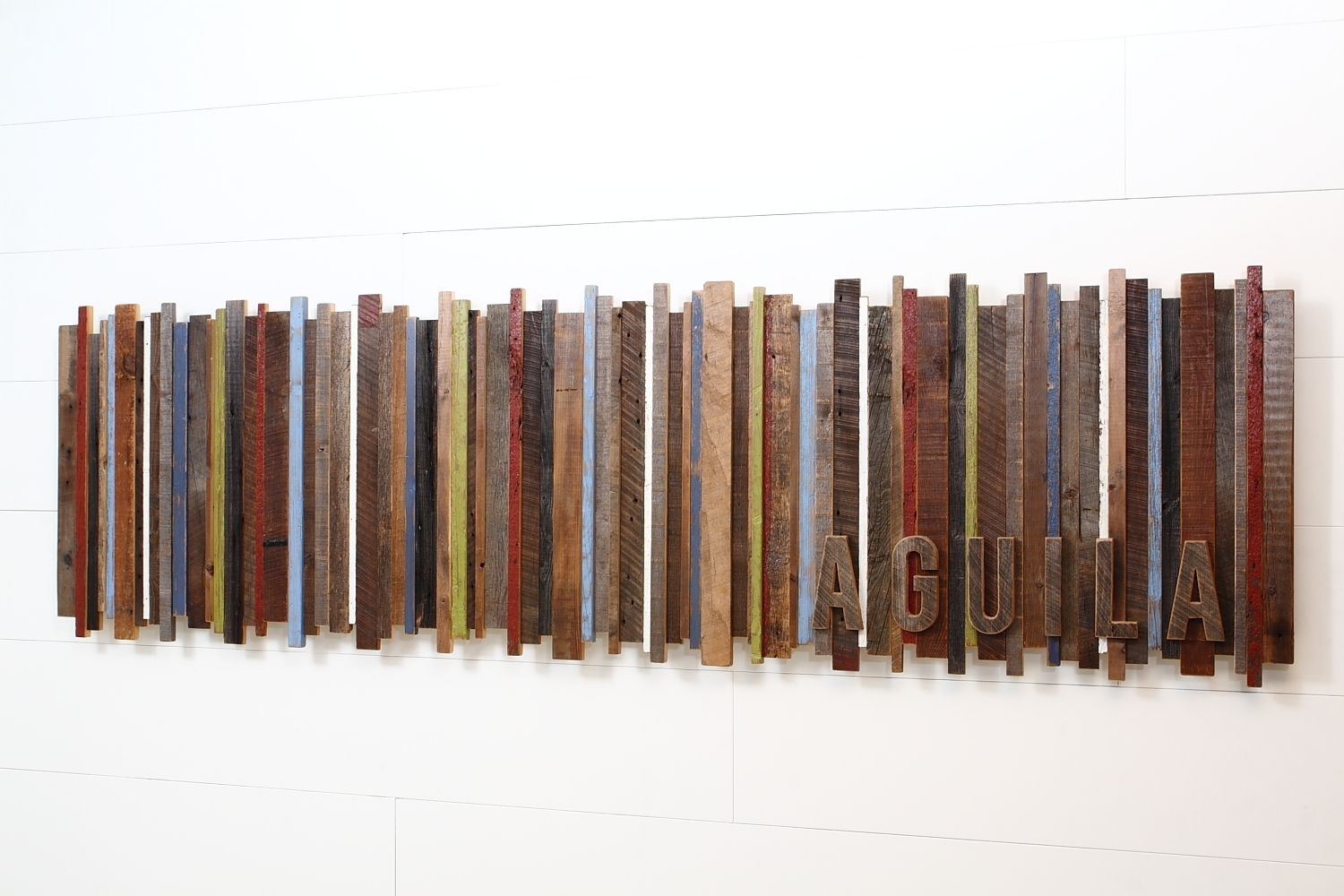 Wall Decor Made From Wood : Hand made reclaimed wood wall art by