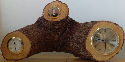 Custom Made 3 Branch Live Edge Desktop Clock