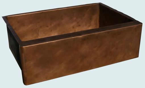 Custom Made Copper Sink With Distressed Hammering