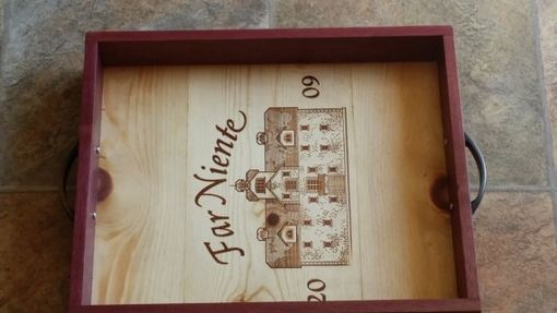 Custom Made Wine Crate Serving Tray