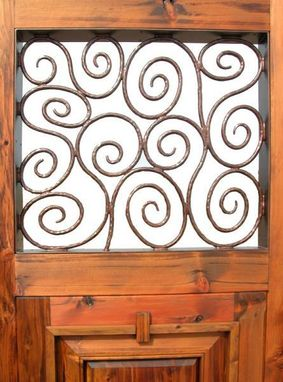 Custom Made Iron And Northern White Cedar Garden Gate