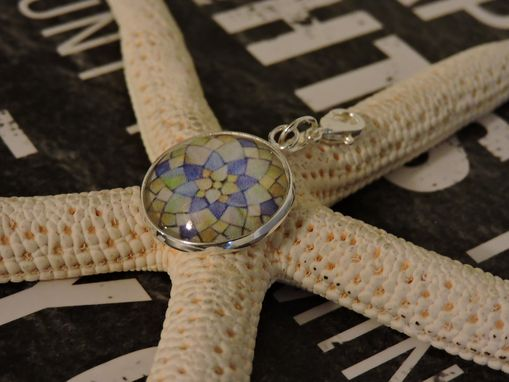 Custom Made Silver Plated 20mm Glass Bezel Charm