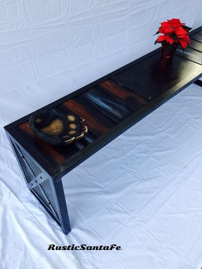 "Custom Made 79"" Entryway Bench, Media Console/Industrial Tv Stand"