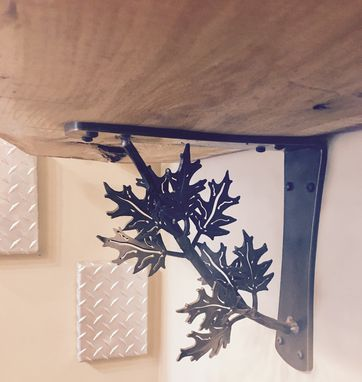 Custom Made Corbel & Shelf Bracket Forged Oak Leaf