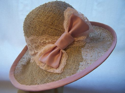 Custom Made Straw Cloche Edwardian Style