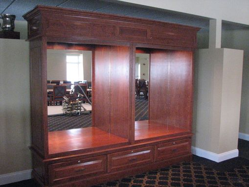 Custom Made Finishing Project: Cherry Wood Trophy Case