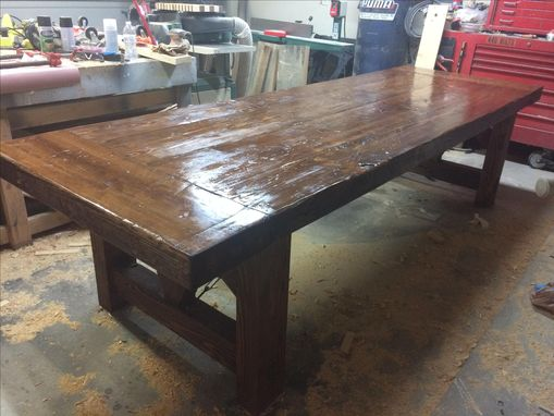 "Custom Made Massive 3.5"" Thick Cypress Dining Table"