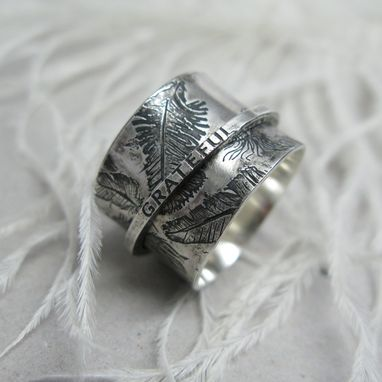 Custom Made Feather Spinner Ring