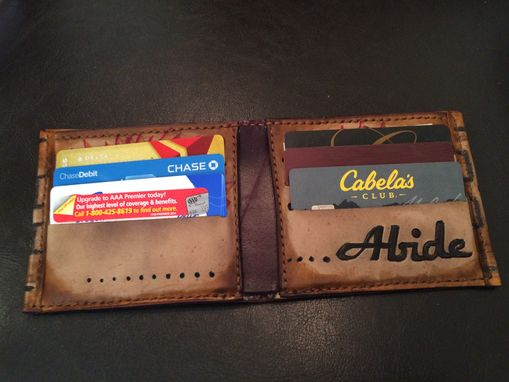 Custom Made The Dude/Lebowski Leather Wallet Men's Bifold