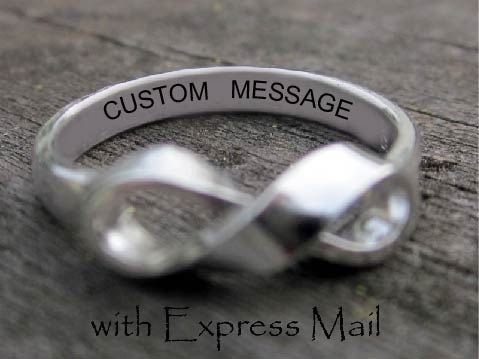 Custom Made Double Sided Hand Stamped Sterling Silver Money Clip, Personalized