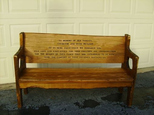 Custom Made Memorial Bench
