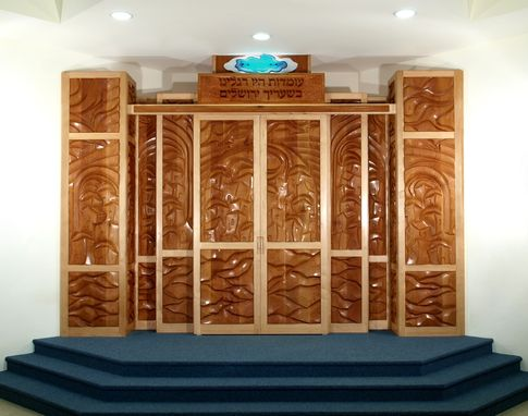 Custom Made Raise Thy Eyes Up To Jerusalem Torah Ark