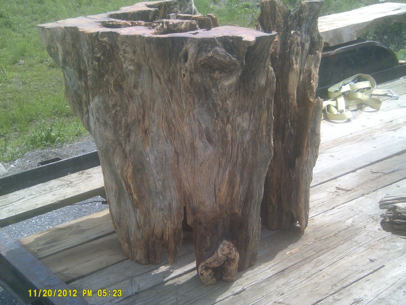 Custom Made 200 Year Old Pine Knot Dining Table Pedestal