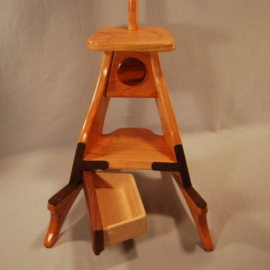 Awesome Handmade Cherry Walnut Model 3 Guitar Stand By South Ocoug Best Dining Table And Chair Ideas Images Ocougorg