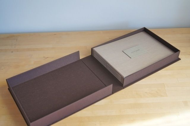 Custom Wedding Album With Clamshell Box by Hinged Strung ...