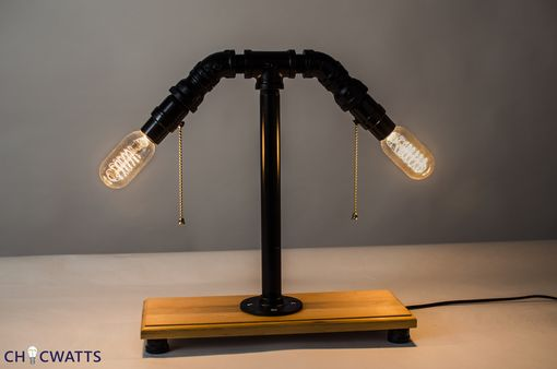 Custom Made Industrial Light With Built In Usb Hub Great For Offices/ Home