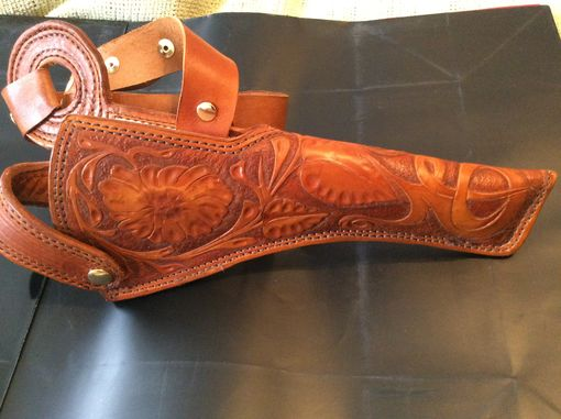 Custom Made Custom Hunting / Bandelero Holster For A Scoped Revolver