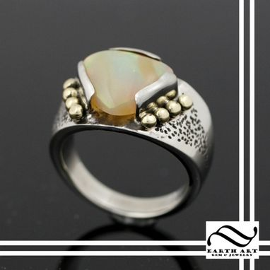 Custom Made Gold Signet Ring With Opal