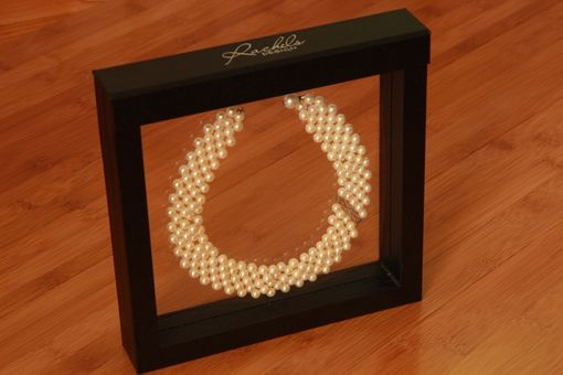 Custom Made Hand Woven Classy Pearl Choker With Filigree & Blue Topaz. Perfect For Bridal Jewelry!