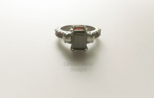 Custom Made Black Diamond Skull Engagement Ring