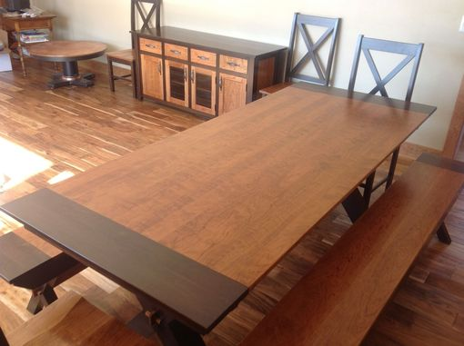 Custom Made Walnut And Cherry Dining Room