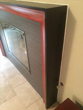 Custom Made Modern Coved Bubinga And Wenge Fireplace Mantel