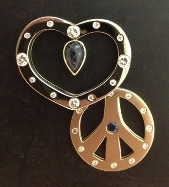 Custom Made Heart And Peace Sign Pendant