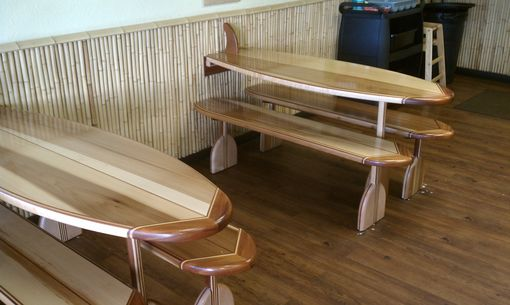 Custom Made Surf Board Tables
