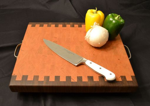 Custom Made End Grain Cherrry And Black Walnut Cutting Board