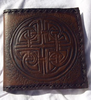 Custom Made Leather Celtic Protection Bill-Fold Wallet