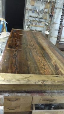 Custom Made Truss Base Industrial Table